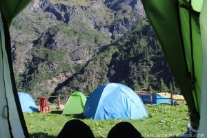 Camping Experience at Kheerganga - View from Our Tent