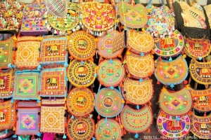 Colorful Jholas at Bapu Bazaar